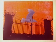"Exit. Serigraph print. ed.  14.  from the "" Calgary series"". 1976"