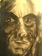 Self Portrait. 1984. Charcoal on Paper.