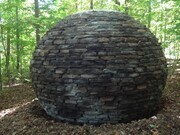 Atmo-sphere 1000 stones. h. 2.5 metres. 2013. Haliburton Sculpture Forest. Haliburton Ontario.
