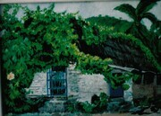 cottage in Jalapa Mexico. Acrylic on board. 2000
