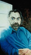 Self Portrait. Oil on board. 1994. 22x 30""