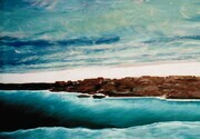 """Freeze up on Hudson Bay"". Acrylic on canvas 30""x 48"" 1994"