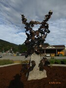 """Blowin in the wind"" Forged Bronze,Granite. 2016. Revelstoke B.C."