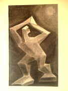 "Study for Sculpture. Charcoal on paper. 22"" x30"". 1978."