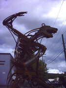 Junkyard Bear 2004.  Cranbrook B.C. Made with the help of the Mount Baker Senior Secondary School Students