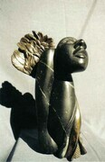 Metamorphosis 1 Steatite, Bronze.  h. 26cm.  Private Collection