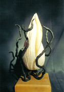 Dancing Seed.  Onyx, Steel , h. 22cm Private Collection